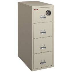 Fireproof Legal Vetical File with Four Drawers and Electronic Lock