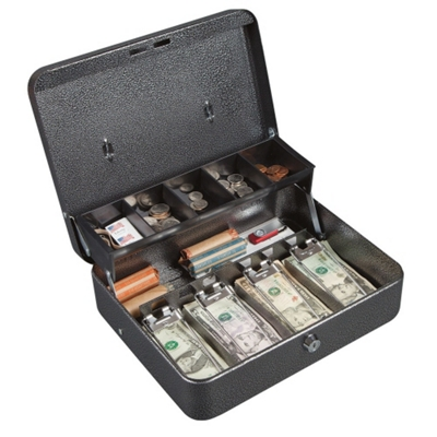 Lockable Nine Compartment Cash Box