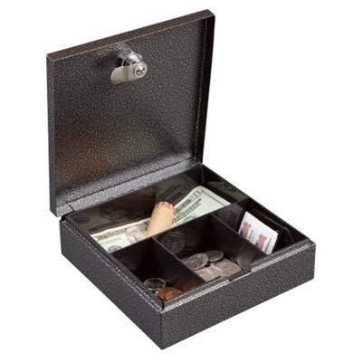 Lockable Four Compartment Compact Cash Box