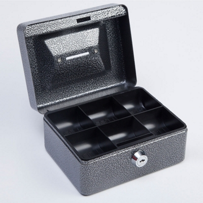 Lockable Six Compartment Coin Box