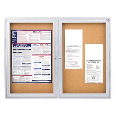 "Aluminum Frame Corkboard - 48"" x 36"""