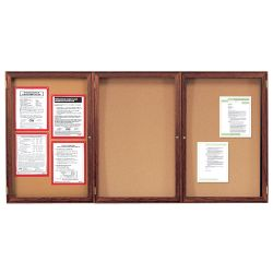 "Wood Frame Corkboard - 72""W x 48""H"