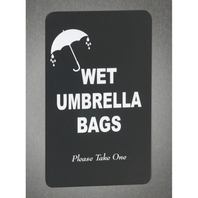 Wet Umbrella Bags Sign