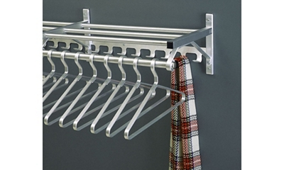 "Coat Rack with Shelf and Extra Hooks 54"" Long"