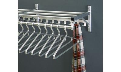 "Coat Rack with Shelf and Extra Hooks 48"" Long"