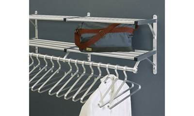 72 Wall Mounted Coat Rack With Two Shelves By Glaro Nbfcom