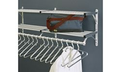 "Coat Rack with 2 Shelves and Extra Hooks 30"" Long"