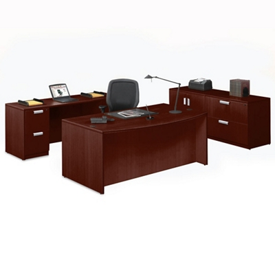 Contemporary Four Piece Executive Office Suite