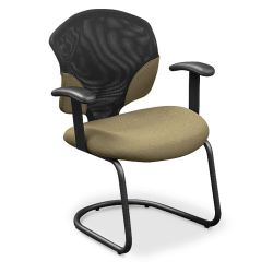Guest Chair with Mesh Insert and T-Arms