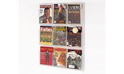 Clear Plastic Nine Pocket Magazine Rack
