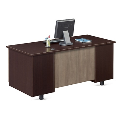 """Ascend Double Pedestal Compact Desk - 60""""W"""