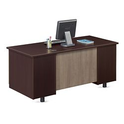 "Ascend Double Pedestal Compact Desk - 60""W"