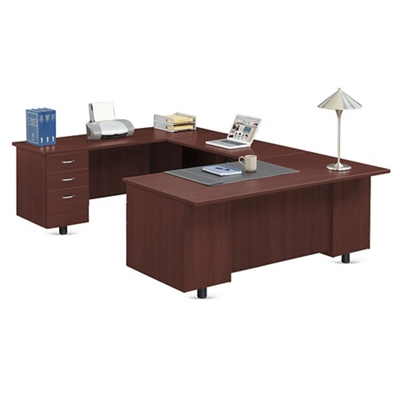 "Ascend U-Desk with Left Bridge - 72""W"