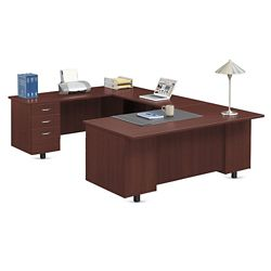 "Ascend U-Desk with Left Bridge - 72""W"