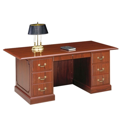 "Double Pedestal Executive Desk 72""W"