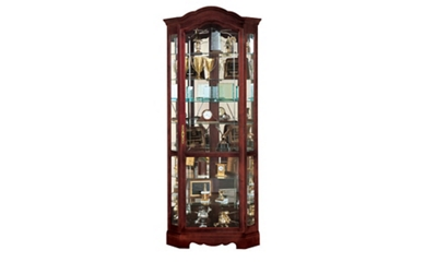 Corner Display Case with Mirror Back