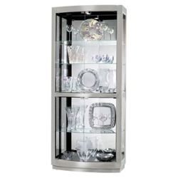 "Five Shelf Lighted Display Cabinet - 78.5"" H"