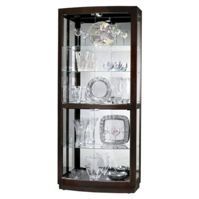 "Five Shelf Mirrored Back Display Cabinet - 82"" H"