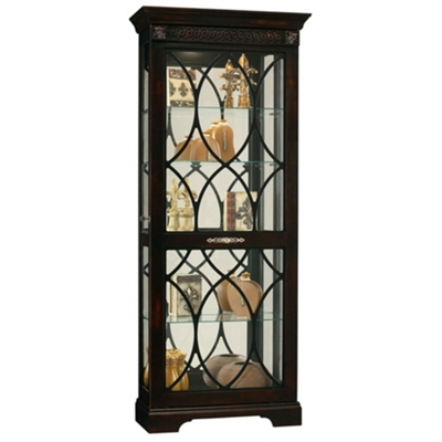 """Five Shelf Siding Door Display Cabinet - 78"""" H"""