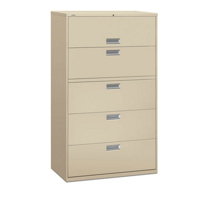 """600 Series 42""""W Heavy Duty Five Drawer Lateral File"""