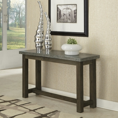 "Concrete Top Console Table with Wood Frame - 48""W"