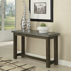 """Concrete Top Console Table with Wood Frame - 48""""W"""