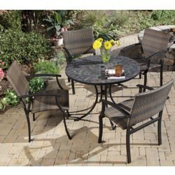 Five Piece Outdoor Patio Set with Arm Chair