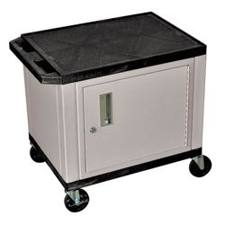 "26"" H Utility Cart with Cabinet"