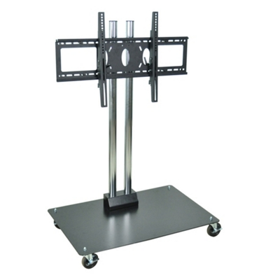 """Adjustable Height Mobile Flat Panel TV Stand - 50"""" H"""