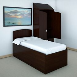 Behavioral Health Platform Bed and Wardrobe