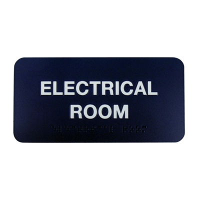 "Electrical Room Sign - 8""W x 4""H"