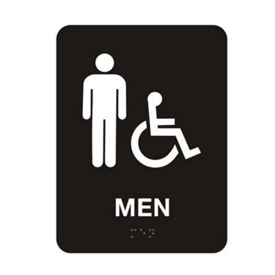 """Mens Handicap Restroom Sign - 6""""W x 8""""H"""