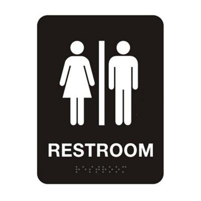 "Unisex Restroom Sign - 6""W x 8""H"