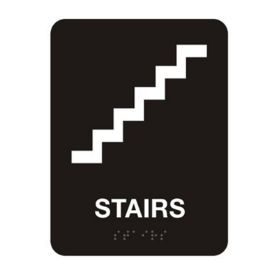 """Stairs Sign - 6""""W x 8""""H"""