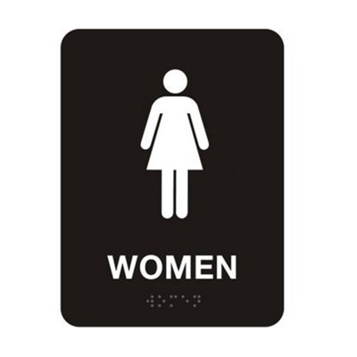"Womens Restroom Sign - 6""W x 8""H"
