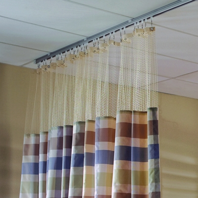 "Striped Print Privacy Curtain - 66""W x 86""H"