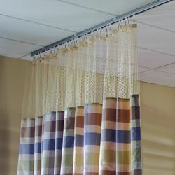 "Striped Print Privacy Curtain- 210""W x 86""H"