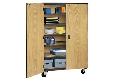 """Teacher Storage Cabinet on Wheels - 48""""W"""