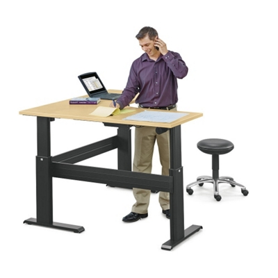 "Stature Adjustable Height Corner L-Desk - 60""W x 60""D"