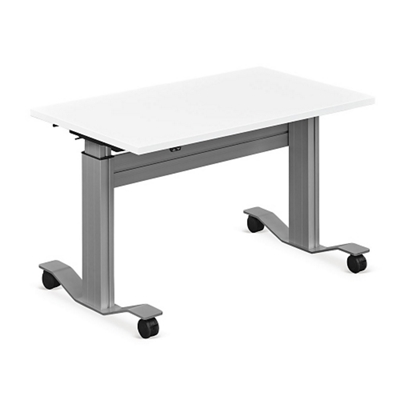 "Adjustable Height Flip Top Whiteboard Table - 48""W"