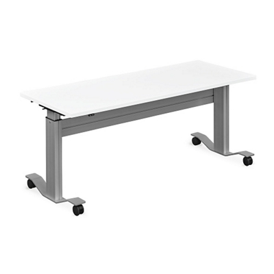 "Adjustable Height Flip Top Whiteboard Table - 72""W"