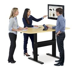 "Eleve Adjustable Height Media Table - 60""W x 42""D"