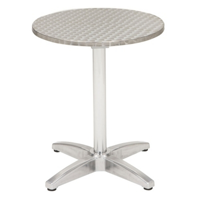 "32"" Round Stainless Steel Outdoor Table"