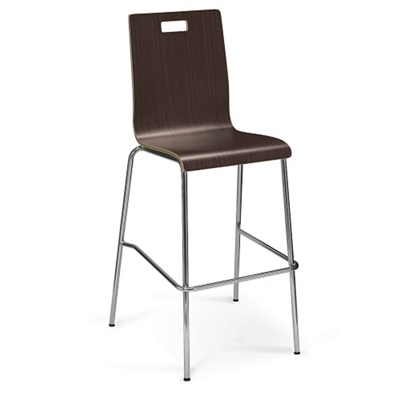 High-Back Upholstered Bar-Height Stool