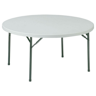 "Lightweight Round Folding Table - 60"" Diameter"