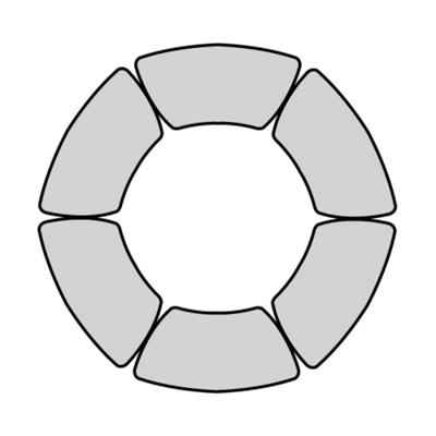 Circle Shaped Meeting Table Set