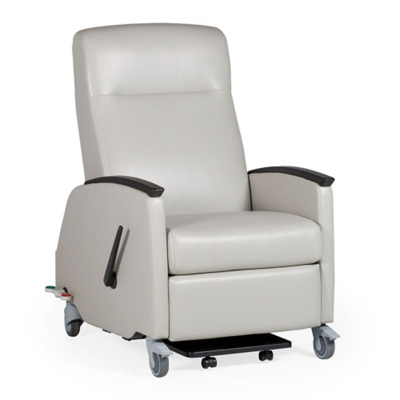 Bon Healthcare Vinyl Recliner With Locking Casters   25793 And More Lifetime  Guarantee