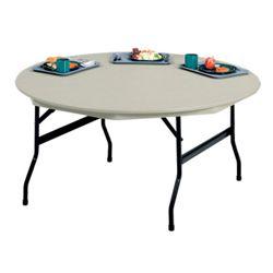 "Lightweight Round Folding Table - 60"" Diameter"