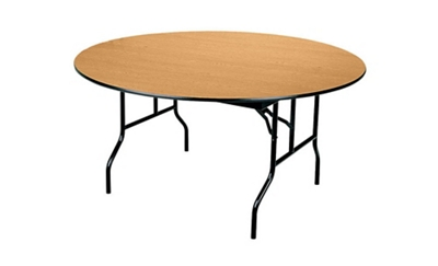 "60"" round table shown"