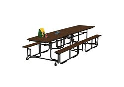 Cafeteria Table 8' long with Bench Seating